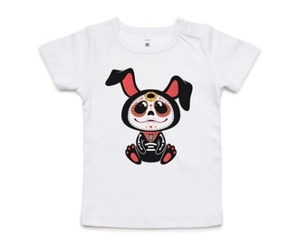 Fifty5 Clothing Day Of The Dead Bunny Wee Tee