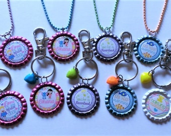 CLEARANCE YOU PICK Character Inspired  Clip/Keychain or Necklace