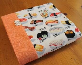 Japanese Baby Blanket, Sushi Baby Gift, Personalized Baby Blanket, Coral Baby Blanket, Cotton Flannel Swaddle, Sushi Baby Gift