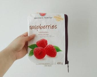 Reusable Zipper Snack Bag, Zero Waste Snack Pouch, Reusable Sandwich Bag, Upcycled Zipper Storage Bag, Cosmetic Bag, Pencil Case