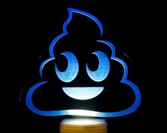 Poo Emoji Night Light - Poop Emoji LED Nightlight - Pile of Poo Emoji Light - Poop Emoji Light - Poop Light - Bathroom Night Light