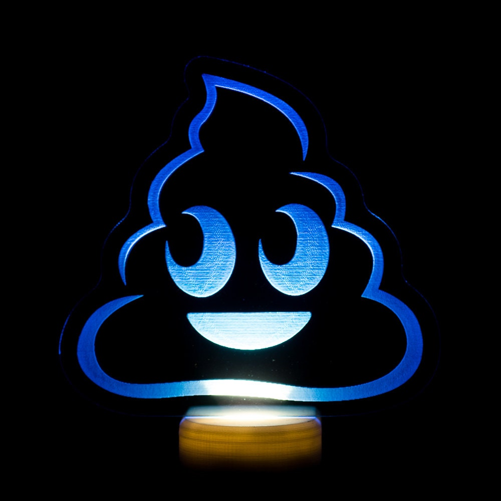 poo emoji night light poop emoji led nightlight pile of. Black Bedroom Furniture Sets. Home Design Ideas