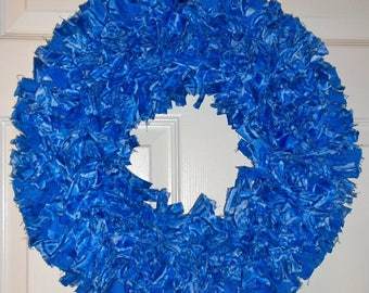Blue Rag Wreath