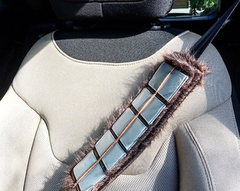Handmade Chewbacca Bandolier Star Wars Seat Belt Cover with Velcro Straps