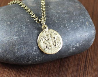Pirate Doubloon ~ Pirate's Treasure ~ Pieces of Eight Coin ~  pendant necklace