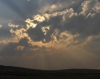 Sun Rays thru Clouds