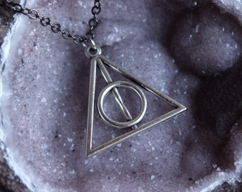 Harry Potter Deathly Hallows charm silver necklace