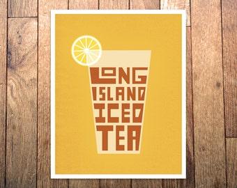 Typography Long Island Iced Tea