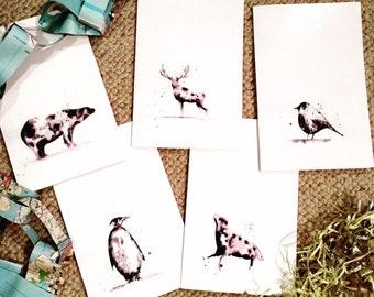 Christmas cards x5