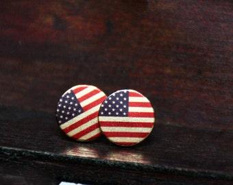 Earrings, 12 mm, USA, America