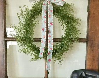 Mini Farmhouse Wreath, Mini French Country Wreath, Mini Window Wreath, Fixer Upper Wreath, Joanna Gaines