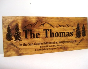 Welcome sign Address Plaque Personalized Wooden Sign Address Sign Custom lake house signs Cabin decor Custom Signs Personalized Wooden Sign