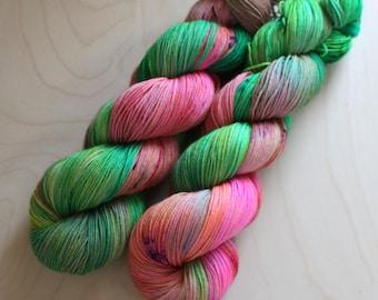 """Otter - """"Pixy Stix"""" OOAK - 75/25 Superwash Merino, Nylon - Sock Yarn"""