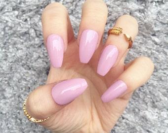 lilac nails  etsy