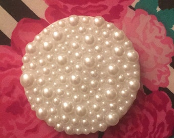 Custom pearl compact mirror