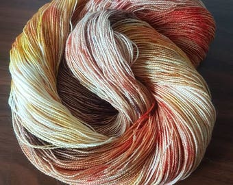 Hand Dyed 2 ply High Twist Merino Nylon Sock Yarn