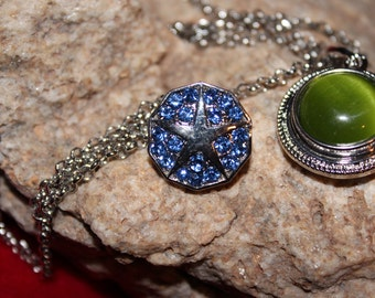 Single Interchangeable Snap Necklace / Free Snap Buttons