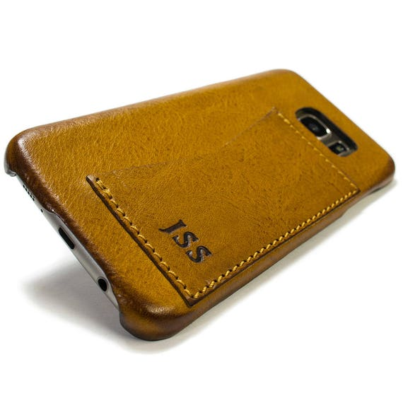 Samsung Galaxy S8 and S8 Plus Leather Case genuine natural leather  1 credit card use as protection CHOOSE color and device