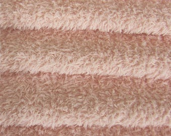Quality VIS1/SCM - Viscose -1/6 yard (Fat) in Intercal's Color 588S-Pale Pink. A German Viscose Fur Fabric for Teddy Bear Making &Crafts