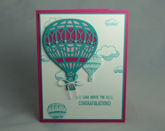 Stampin Up Handmade Greeting Card: Graduation Card, Graduate, College, High School Class of 2017 Lift Me Up Congratulations Promotion