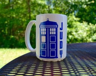 SET OF 5 Doctor Who Inspired Coffee or Tea Mug, Dalek, Tardis, Fez, Bowties are Cool, Weeping Angel Mugs
