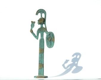 Museum Replica, Athena Goddess, Greek Bronze Statue, Athena Sculpture, Brass Statue, Brass Sculpture, Greek Brass Sculpture, Greek Goddess