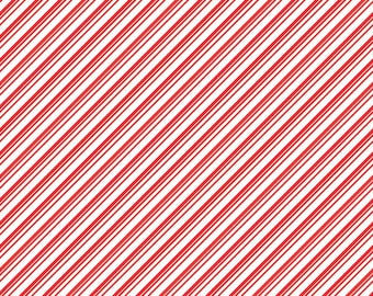 Red and white stripe craft  vinyl sheet - HTV or Adhesive Vinyl -  diagonal stripe pattern Christmas candy cane HTV3019