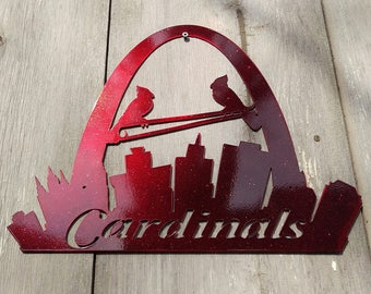 Powder Coated St. Louis Cardinals Arch Sign