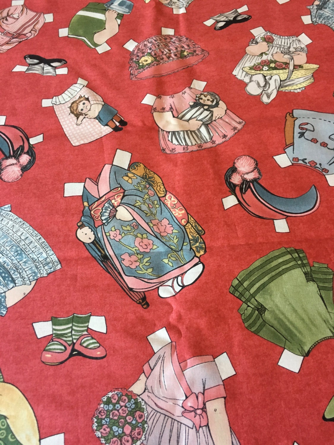 paper doll fabric Reproduction quilting and sewing fabrics - paper dolls and more.