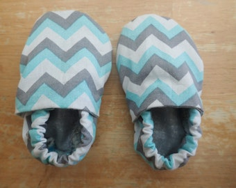 Pink OR teal chevron with gray/white