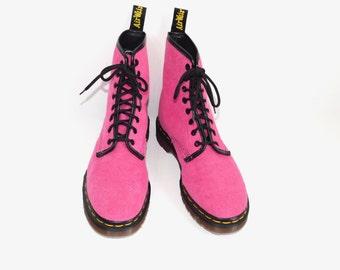 Very Rare Mint Vintage Hot Pink Terrycloth 1460 D. Martens -England-- UK size 5 = US Men's size 6 = US Women's 7.5