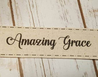 Amazing Grace muslin patch