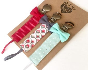 Pacifier Clips - Erica Collection