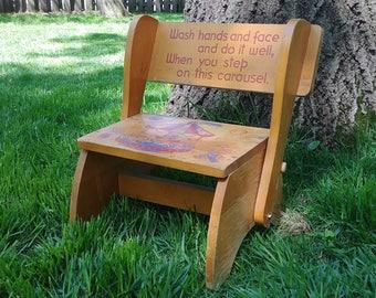 Childres Step Wash Stool/Chair IRMI Carousel