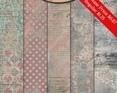 Digital Scrapbook, Papers, Artsy, Blended Papers: Looking Back