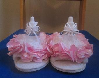 BABY SHOWER SLIPPER, new mom, slippers for mom, gift for mom, new baby, boy shower, girl shower, fun shower gift, gag gift for mom, pregnant