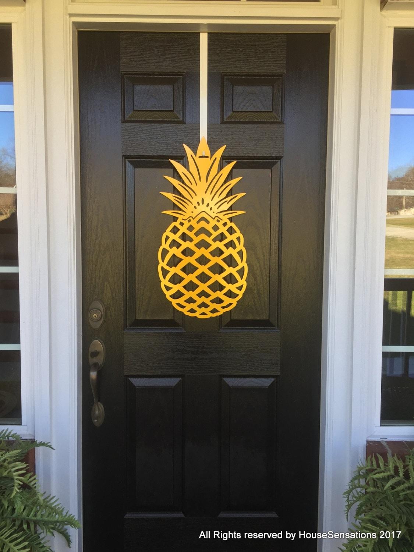 Pineapple Front Door Wreath Front Door Decor Pineapple