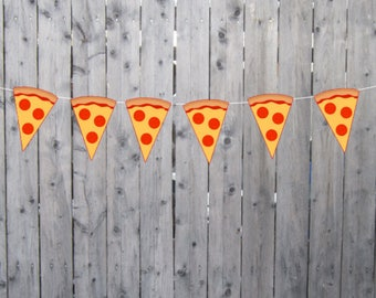 Pizza Garland, Pizza Banner, Pizza Party Banner, Pizza Party Decorations, Pizza Party Sign