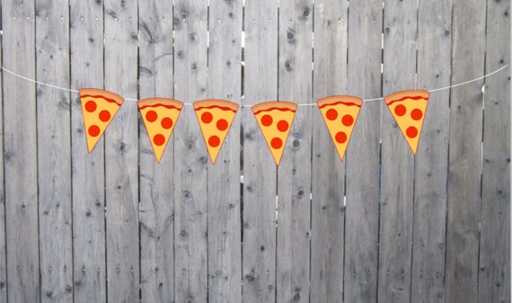 Pizza Garland Pizza Banner Pizza Party Banner Pizza