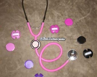 Personalized Stethoscope Name ID tag + Monogram