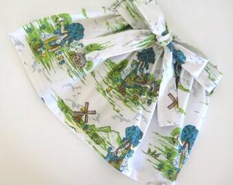 Girls  Custom Made Vintage Holly Hobbie Fabric Skirt..Size 1 - 5