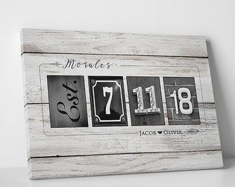 Modern Wedding Guest Book Wedding Guestbook Alternative Wood Guest Book Wedding Keepsake Wedding Gift for Bride - 5W