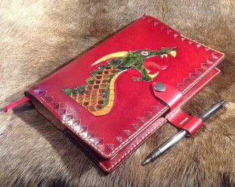 Dragon A5 Leather Notebook Cover