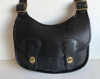 Coach Sale Bonnie Cashin Pony Express messenger shoukder bag New York City Thick Black