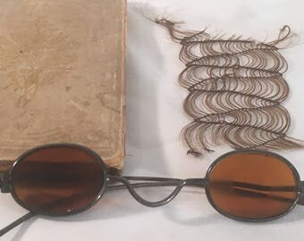 Civil War Collection of John S. Gilmore & Elizabeth S. McMillen including Marriage Book, Mourning Hair, Sharpshooter Glasses