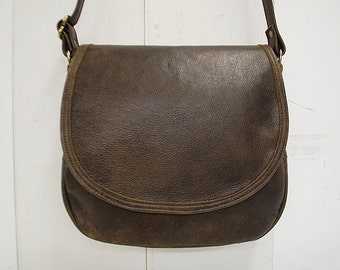 """Distressed leather cross body saddle bag - """"THE MADDY"""""""