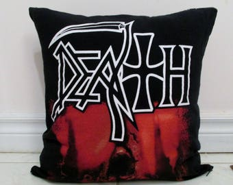 Death Pillow DIY Death Metal Decor - Sound of Perseverance (Cover or Full Pillow)