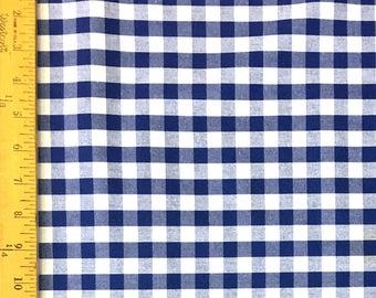 """Sale - Fabric Finders -Royal Blue, Nautical 1/2"""" Gingham Check - 60"""" wide - 100% cotton"""