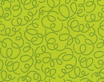 Sale Timeless Treasures Bright Owl Lime Swirl by Alice Kennedy  OWL-C8372-lime