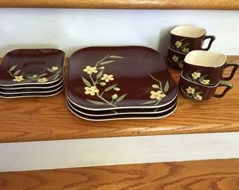 Vintage Weil Ware California WEW2 Pattern China Set
